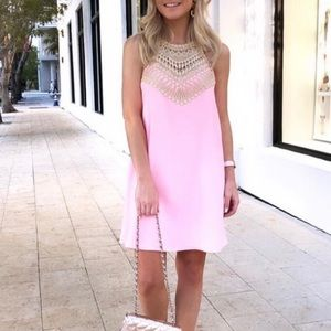 Lilly Pulitzer Pearl Soft Shift Pink Gold Dress